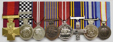Medals awarded to Tim Britten