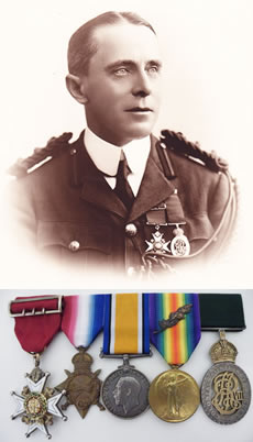 Richard Courtney and medals