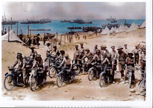 Dispatch riders at Cape Helles