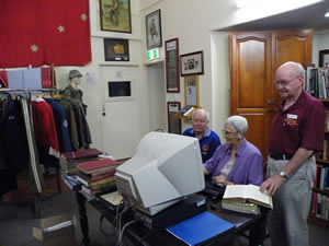 Museum volunteers are available to help historians in the Research Room