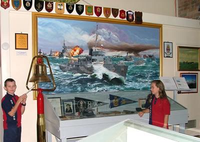Museum display of H.M.A.S. Maryborough