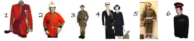 Uniforms on display