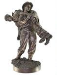 Bronze figurine and Afrika Korps trousers